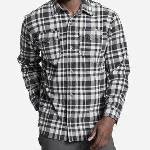 Eddie Bauer Chutes Microfleece Flannel Shirt Storm